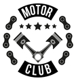 Vintage Motor Club Signs and Label vector image vector image
