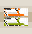 white horizontal web banners with abstract vector image vector image