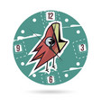 kids dial plate clock face with a vector image