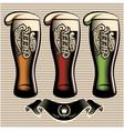 set of different kinds glasses of beer vector image