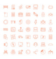 49 computer icons vector image vector image