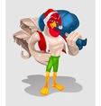 a rooster - Santa Claus vector image vector image