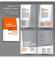 A4 book Layout Design Template vector image vector image