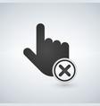 abort or delete hand cursor black icon vector image vector image