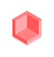 abstract cubic icon isometric vector image vector image