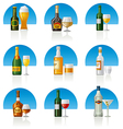 alcohol drinks icon set vector image vector image