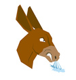 Angry donkey Head of an aggressive beast with grin vector image