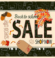 back to school sale poster and banner with school vector image