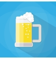 beer mug isolated on a blue background vector image