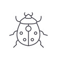 bug line icon sign on vector image vector image