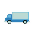 cargo and shipping blue truck with trailer side vector image