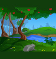 cartoon summer background for a game art vector image vector image
