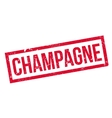 Champagne rubber stamp vector image