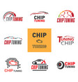 chip tuning logo vector image