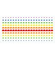 cloud shape halftone spectrum grid vector image vector image