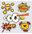 Comic book explosions and words vector image vector image