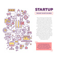 creative concept of startup with header and vector image vector image