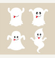 cute ghost cartoon collection vector image vector image