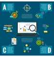 Data analytics infographic set vector image