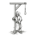 death standing close to gallows vector image