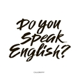 Do you speak english Modern calligraphy text vector image vector image