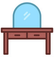 dresser icon filled line style eps10 vector image vector image