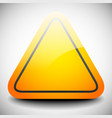 empty triangular orange road sign with highlight vector image