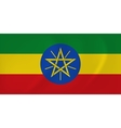 Ethiopia waving flag vector image