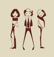 fashion woman collection vector image vector image