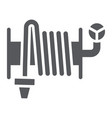 fire hose glyph icon equipment and water hose vector image vector image