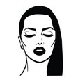 girl with closed eyes vector image vector image