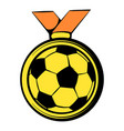 gold soccer medal icon icon cartoon vector image vector image