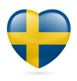 Heart icon of Sweden vector image vector image