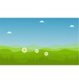landscape hill at spring backgrounds vector image
