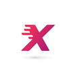Letter X number 10 logo icon design template vector image