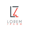 logo between letter l and letter z or lz vector image vector image