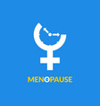 menopause icon awareness woman fertility age vector image vector image