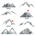 Mountain icon sets vector image vector image