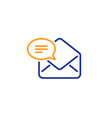 new mail line icon message correspondence sign vector image vector image