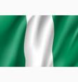 nigeria realistic flag vector image