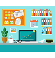 Office Workplace Design Concept vector image vector image