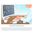 online statistics colorful vector image vector image