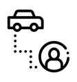 passenger destination online taxi icon vector image vector image