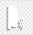 people speaking or singing sign white vector image vector image