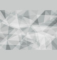 polygon gray and white color abstract background vector image vector image