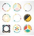 Recycle simple flat icons set Round arrows vector image