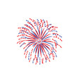 red and blue firework explosion cartoon vector image vector image