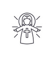 religious angel line icon concept religious angel vector image