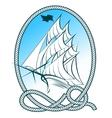 Sailing Ship Emblem vector image vector image