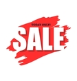 Sale today only flat icon vector image vector image